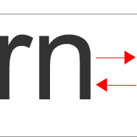 Kerning in action image