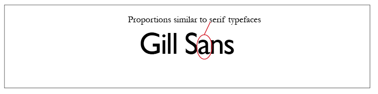 Gill Sans Typeface Style
