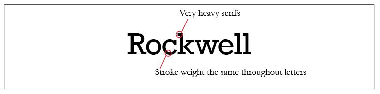 Rockwell Typeface Style