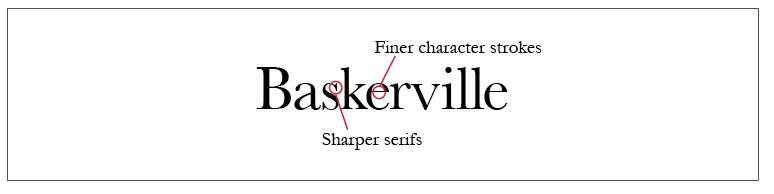 Baskerville Typeface Style