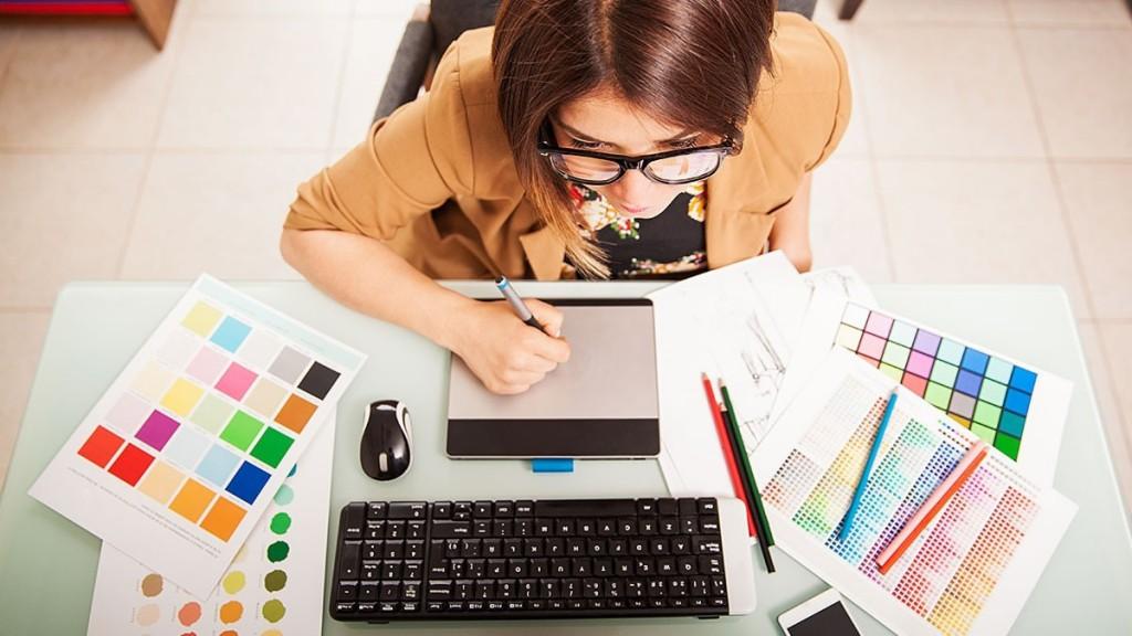 designer working full width