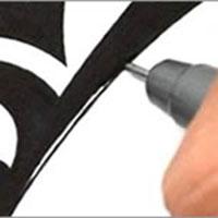 designer sketching logo