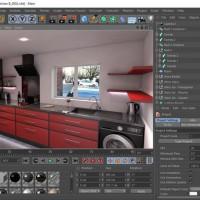 cinema 4d kitchen render